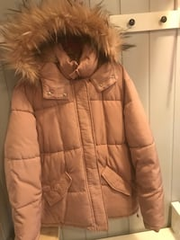 brun zip-up parka jakke 6222 km