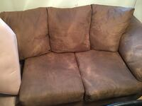 Brown suede 3-seat sofa 47 km