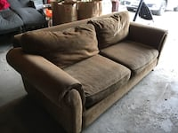 Brown suede 2-seat sofa Vaughan, L4L 2S6