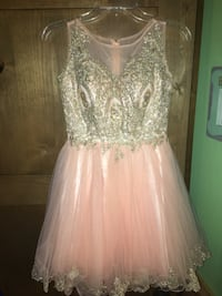 Blush and gold studded dress Fillmore, 93015