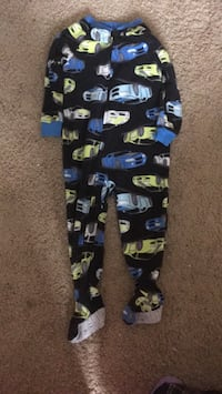 Black and blue printed pants pj and 1 bag clothes boys  for 24 months $30.00 Grande Prairie, T8W