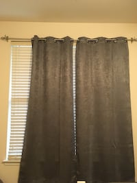 Curtain rod & 2 panels Herndon, 20170