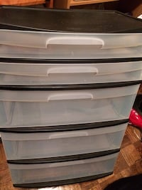 5 drawer container