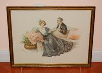 Antique Signed Lithograph NORTHLASVEGAS