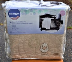 New Little Lamb Collection 7 Piece Infant Baby Kids Crib Bedding Set Collection