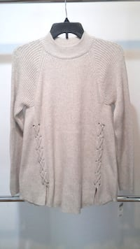 nwt Knit Sweater w.Lace-up Detail M BURNABY