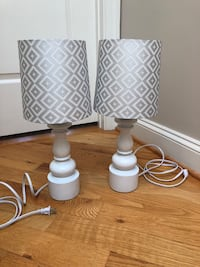 Silver and white table lamps Baltimore, 21230