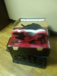red and black Air Jordan basketball shoes with box Cobb County, 30060