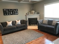 Grey sofa and love seat  Newmarket, L3X 2C3