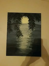 gray and black painting of tree near body of water Hollister, 65672