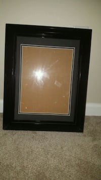 black picture frame, no glass, clear plastic Inwood
