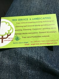 Tree service and landscaping business card