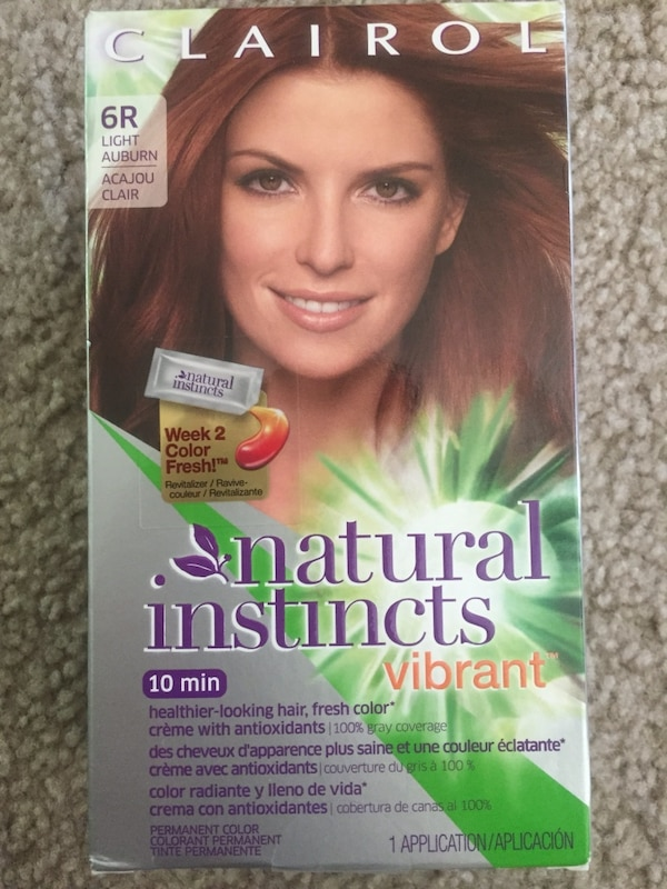 Used Clairol Natural Instincts Vibrant Permanent Hair Color 6r