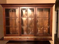 Cherry wall hanging glass display cabinet Baton Rouge, 70808
