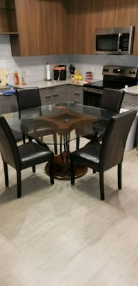 rectangular brown wooden table with six chairs din 2401 mi
