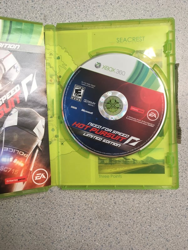 Used Need For Speed Hot Pursuit Xbox 360 Game Limited Edition For