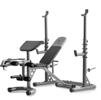 Weider XRS 20 Olympic Workout Bench with Independent Squat Rack