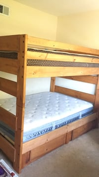 brown wooden framed bunk bed San Jose, 95136
