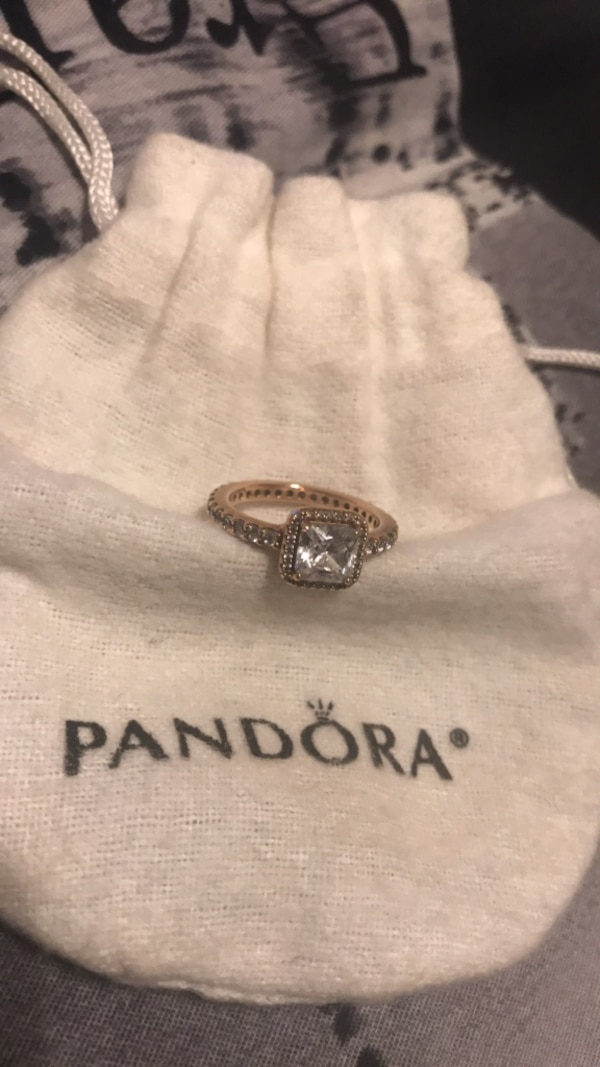 PANDORA Timeless Elegance rose gold ring size 4.5