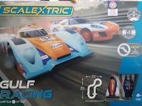 Scalextric Gulf Racing 4 speed settings  LMP Gulf v GT Gulf Edmonton, T6E 6K5