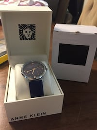 Anne Klein genuine leather collection designer watch with Swarovski crystal elements stars  Blue in color Brand new never used  Hamilton, L8M 2B5