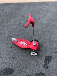 red and gray Radio Flyer 3-wheeled scooter 34 km