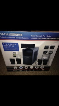 Black 5.1 channel professional home theater system box San Tan Valley, 85140