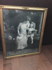 """Old framed picture (21.5""""x17.5"""")"""