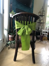 Sage Green chair sashes for weddings and events King, L0G