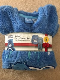 Brand new Care Bears blue Grumpy Bear 2 piece women's fleece sleep set Size: S Brand new (pick up only) Alexandria, 22310