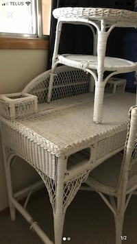 Bohemian wicker desk/chair w stand Edmonton, T5H 4H3