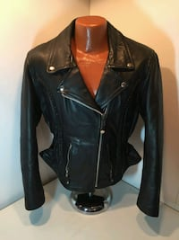 Woman's XL Black Leather Riding Jacket with Thinsulate zip out liner Baltic, 57003