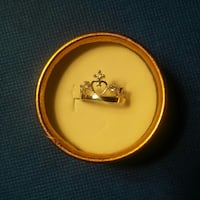 Silver crown adjustable ring. Stamped Hamilton, L8S 1G9