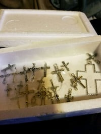 Assortment of silver crosses