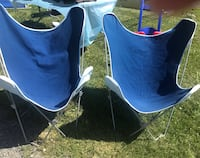 2 Blue Butterfly Chairs Bristow, 20136