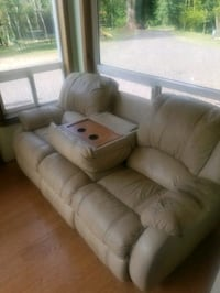 Genuine Leather Recliner Couch