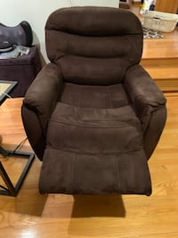 Automatic Brown suede Recliner Revere
