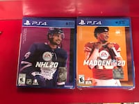 NHL 20 and Madden 20 Brand new for Sale!!! 50$ and 55$ Baltimore, 21217