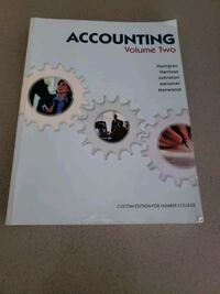 Accounting Volume 2 textbook with workbook Toronto, M8Y 0B3