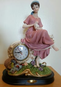 Adeline Table Clock & Statue