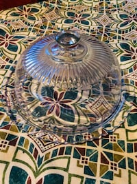 Glass Platter/ Cake Stand  , T7X