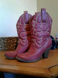 pair of red leather cowboy boots San Angelo, 76901