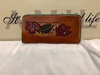 brown leather floral wallet with box Sherwood Park, T8H 0Z9