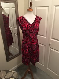 Women's red and black holiday dress Stafford, 22554