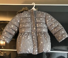 Girls coat with fur hood 18-24 months