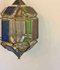 Not your run-of-the-mill stained glass hanging lamp