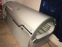 gray commercial tanning bed