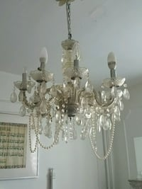white and silver uplight chandelier Montréal, H2K 3A5
