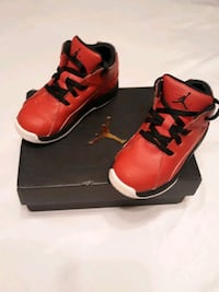 red and black and white Jordans size 9 Snellville, 30039