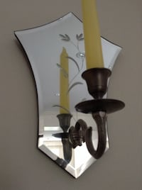 Etched mirror wall sconce for candles Toronto, M1P 4V9